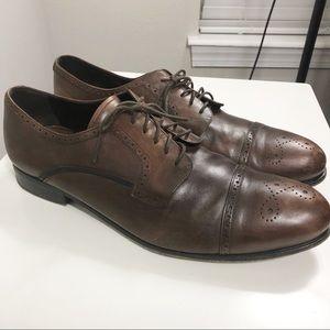 Prada   Cap Toe Brogue Derby Shoe